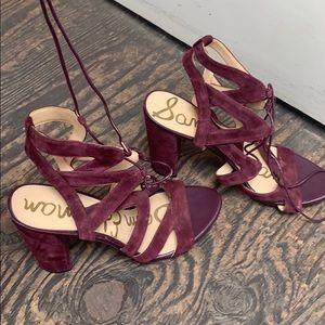 Plum heels, thick heel, Sam Edelman summer sandals